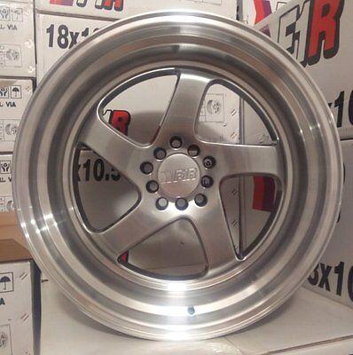 18X9.5 +38 F1R F28 5X114.3 HYPER BLACK Wheels Fit HONDA CIVIC SI 8TH GEN STANCE