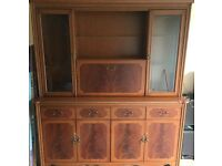 Large side board/ drinks cabinet and display cabinet