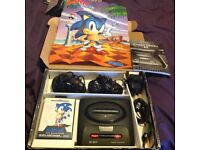 Sega mega drive 2 with rare to find games and contents
