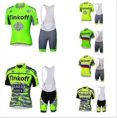 d53f7e480 2016 Saxo Bank Tinkoff fluorescence cycling short sleeve jersey   pants  with bib