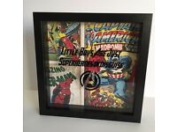 Boys handcrafted superheroes frame