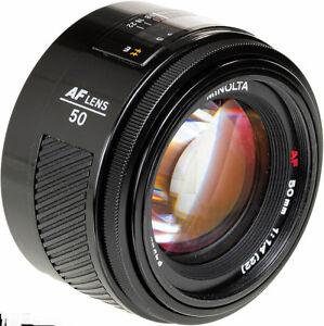 Minolta full-frame AF fast lens 50mm f/1.4