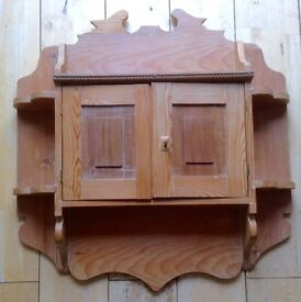 Old Wooden Wall Cupboard