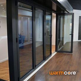 Warmcore aluminium bifolding doors