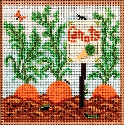 Mill Hill Buttons Beads Counted Cross Stitch Kit ~ CARROT GARDEN #14-1711 Sale