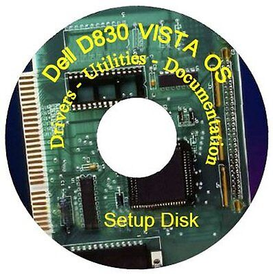 Dell D830 Latitude Laptop Support Cd Drivers   Manuals   Windows Vista 32 Bit