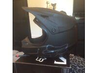 Fox V1 Matte Black Motocross Helmet