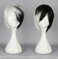 Excellent Condition Black & White Short Cosplay Wig