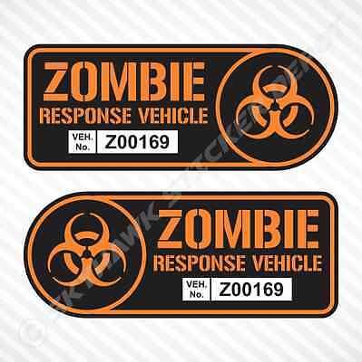 Zombie Response Vehicle Sticker Set Vinyl Decal Walking Dead Car Truck JDM Decal](Animated Walking Dead)