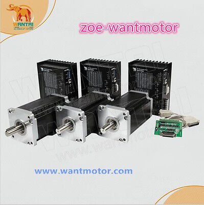 Ship From Usa Wantai 3axis Nema42 Stepper Motor 3256oz-in 6.8a Cnc Kitdq860ma