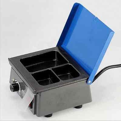 3 Well Heater Pot Wax Melting Pot Dental Analog Wax Heater Pot Dental Lab