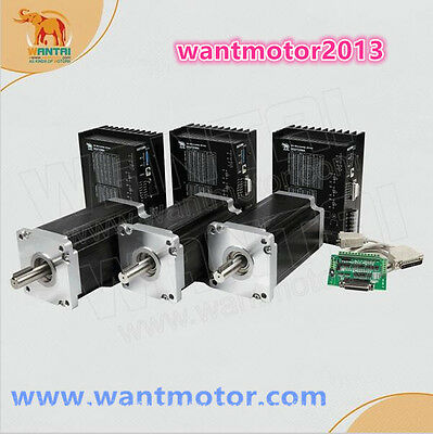 Wantai 3axis Nema42 Stepper Motor201mm 8a 4200oz-indriver Dq2722ma Cutting Mill