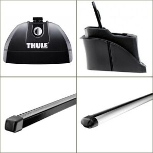 Thule 753 Footpack + 3015 Fitting Kit + 761 Square Bar