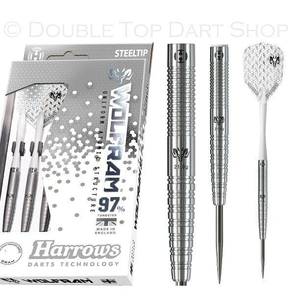 Harrows Wolfram 97% Tungsten Steel Tip Darts - 21g 22g 23g 24g 25g and 26g