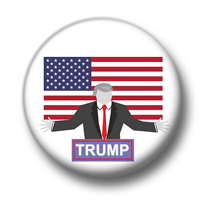 Trump 1 Inch / 25mm Pin Button Badge The Donald Republican President Elect USA