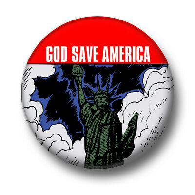 God Save America 1 Inch / 25mm Pin Button Badge Donald Trump President Funny USA