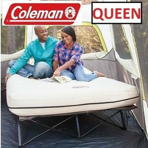 NEW* COLEMAN QUEEN AIRBED COT 2000012376 249700845 MATTRESS BEIGE CAMPING OUTDOORS