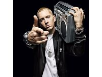 Two Eminem tickets, Glasgow, Thu, 24 Aug 2017, 13:00, at Bellahouston Park.
