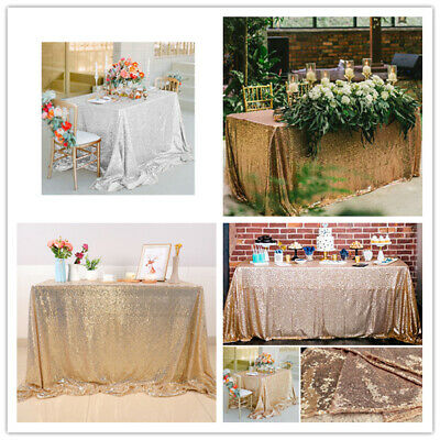 Rectangle Sequin Glitter Tablecloth Sparkly Table Cloth Cover Wedding Party