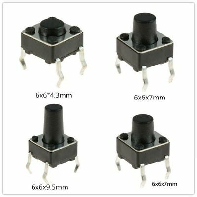 Us 6x6x7mm Momentary Tactile Mini Miniature Push Button Switch Pcb Mounted Spst