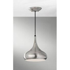 Feiss brand new brushed stainless steel pendant light