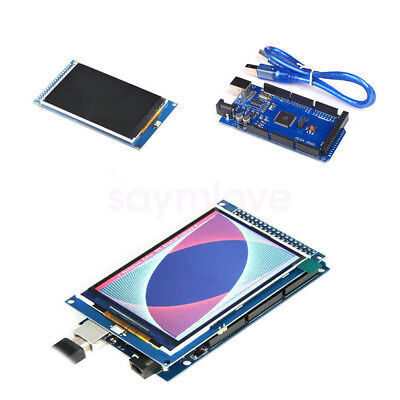 New 3.5 Inch Tft Lcd Display Screen Monitor Mega 2560 R3 Ch340g For Arduino
