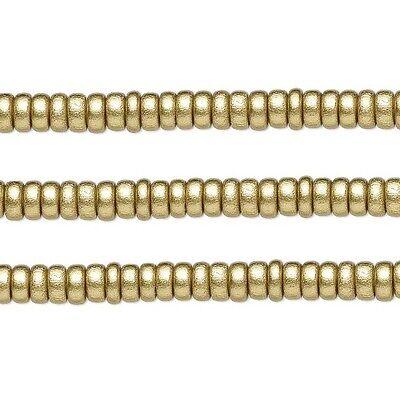 Бисер Wood Rondelle Beads Gold 8x4mm