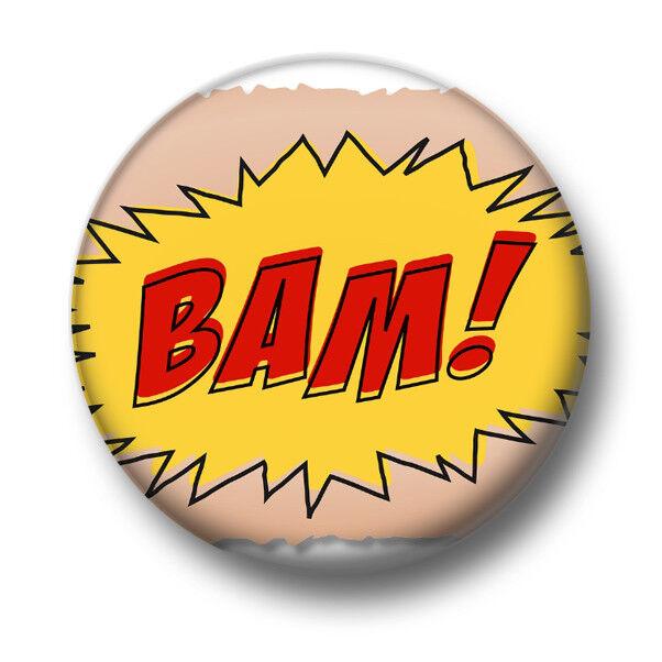 1 Inch 25mm Pin Button Badge Action Speech Bubble Effects Comic Books Fun