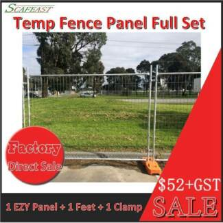 EZY Panel Temporary Fence  Full Set (Panel size: W2.4m X H2.1m)