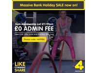 XERCISE4LESS Bank Holiday Offer