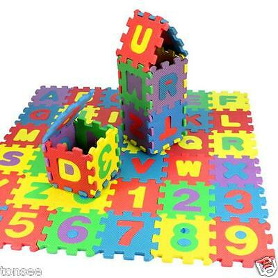 36PCs Baby Kids Room Alphabet Number Foam Crawl Playing Floor Mat Jigsaw Puzzle - $6.99