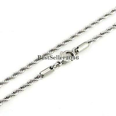 "16"" - 37"" Stainless Steel Chain Link Necklace for Men's Women's Jewelry"