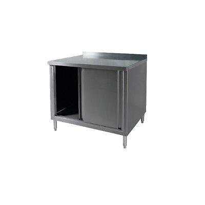 Klingers All Stainless Steel Cabinet Base Work Table Sliding Doors Kti Bcbm-2460
