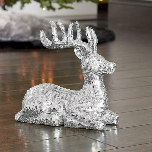GRANDIN ROAD EXCLUSIVE CHRISTMAS/HOLIDAY DISCO REINDEER RESTING POSE NIB SOLD OU