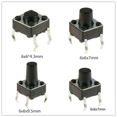 6x6x9.5mm Momentary Tactile Mini Miniature Push Button Switch Pcb Mounted Spst