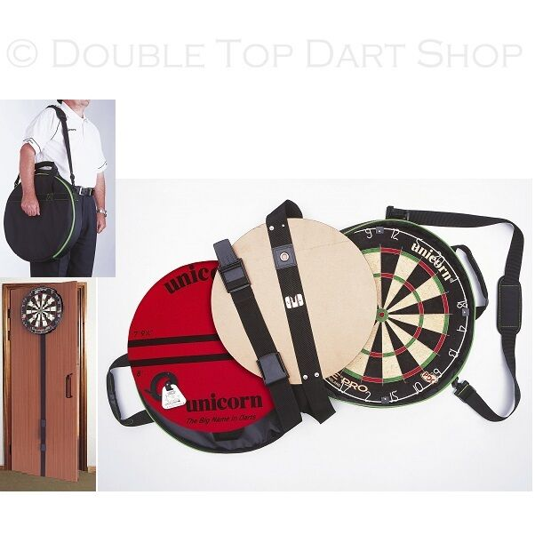 Unicorn On Tour Portable Dartboard System - On Door - with Eclipse Pro Dartbaord