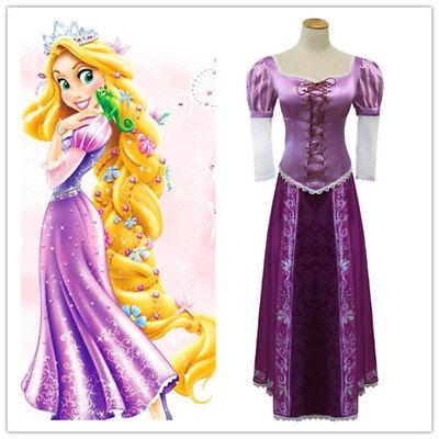 Tangled Rapunzel Prinzessin Kostüm Damen Frauen Märchen Karneval Fee (Rapunzel Kostüm Damen)