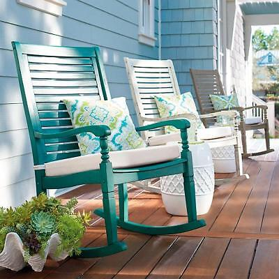 Solid Hardwood Traditional Outdoor Rocking Chair Porch Rocker Choose Color ()