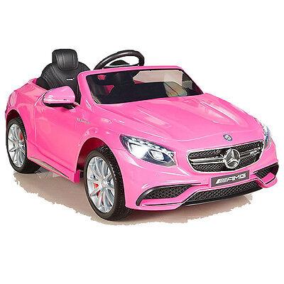Mercedes-Benz AMG S63 Kinderauto Kinderfahrzeug Kinder Elektroauto 2x MT 12V pnk