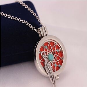 ESSENTIAL OIL AROMATHERAPY DREAM CATCHER NECKLACE DIFFUSER