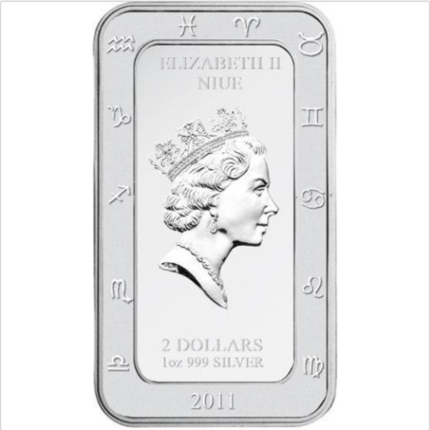 1 Oz Silver Proof Coin Niue 2011 $2 Kagaya Zodiac Series SAGITTARIUS