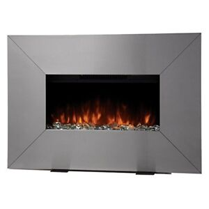 electric wall mount fireplace, new