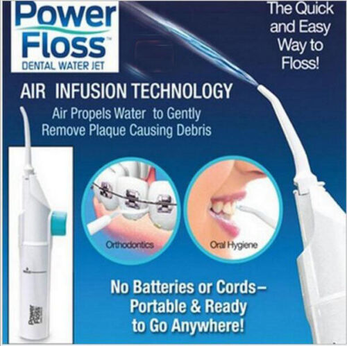 Hot Power Floss Dental Water Jet on TV Cords Tooth Pick Braces NO Battery