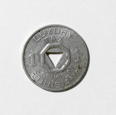 Vintage Old Antique Louisiana State Sales Luxury Tax Token Coin LA 1 Mill