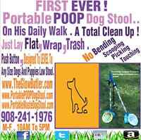 """""""THE GLOW BUTLER""""  Portable  POOP Dog Stool On His Daily Walks !"""