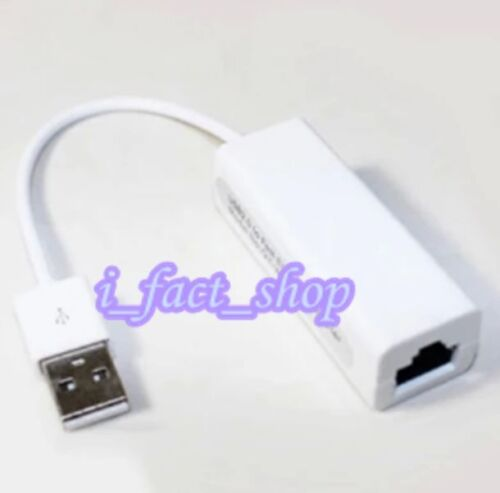 USB 2.0 Fast Male To RJ45 Female Ethernet LAN Card Dongle Adapter 10/100Mbps IFA