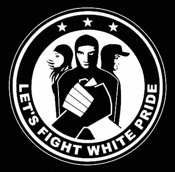 LETS FIGHT WHITE PRIDE - BACKPATCH , silkscreen, antifa, combining shipping !
