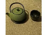 Iron Cast Japanese Tea Set