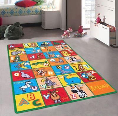 Abc Animals Rug - Children Kids School Classroom Educational Rug Carpet 5'x7' ABC Animals Non Slip