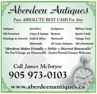 ABSOLUTE BEST CASH PAID - HOUSE CONTENTS -CALL ABERDEEN ANTIQUES